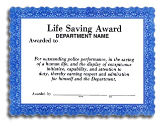 Lifesaver award template just b cause for Life saving award certificate template