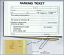 Parking Ticket w/Envelope (3-part carbonless)